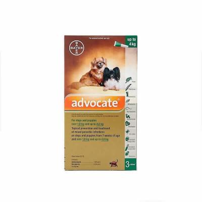 Advocate 3x0.4ml Perro (0-4 Kg)