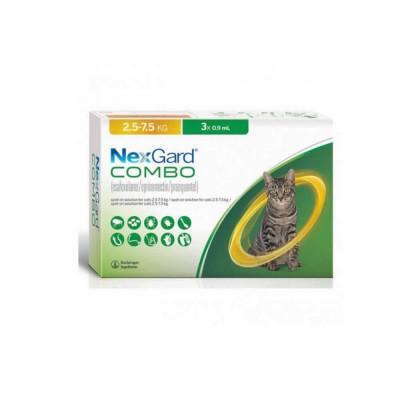 Nexgard Combo Gato L (2.5kg-7.5kg) 0,9 Ml-3 Aplic