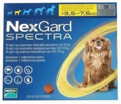 Nexgard Spectra 3.5-7.5 Kg 3 Comp