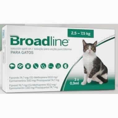 Broadline Gato 2,5-7,5 Kg 3 Aplic.