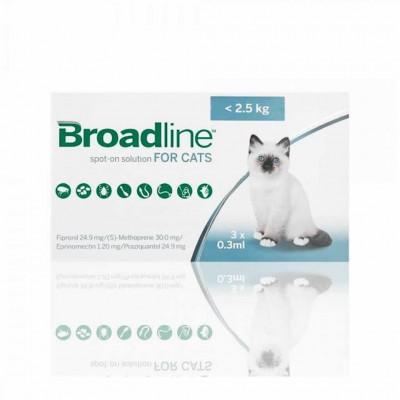 Broadline Gato <2,5 Kg 3 Aplic.