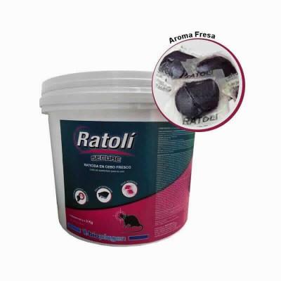 Ratoli Secure Cebo Fresco 3 Kg (3x1kg)