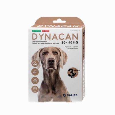 Dynacan Spot On Perros 20-40 Kg 3 Pip