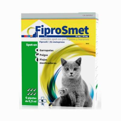 Fiprosmet Gatos Y Hurones 0.5 Ml 6 Pip