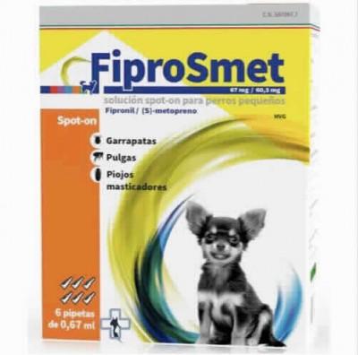 Fiprosmet Perros PequeÑos 0.67 Ml 6 Pip