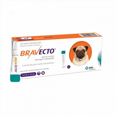 Bravecto Spot On S 250 Mg  4,5-10 Kg 1pi