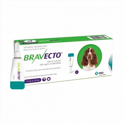 Bravecto Spot On M 500 Mg 10-20 Kg 1pip