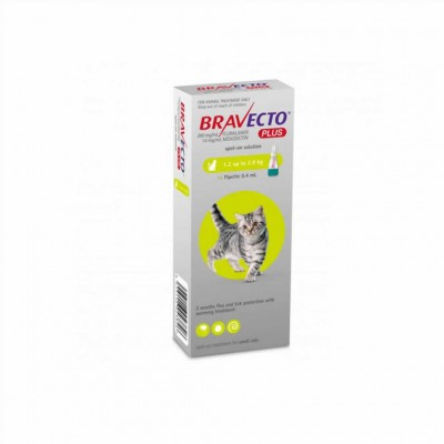 Bravecto Plus Gato 112,5 Mg 1 Pip