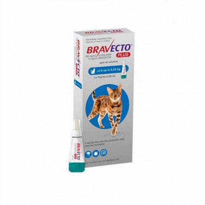 Bravecto Plus Gato 250 Mg 1 Pip