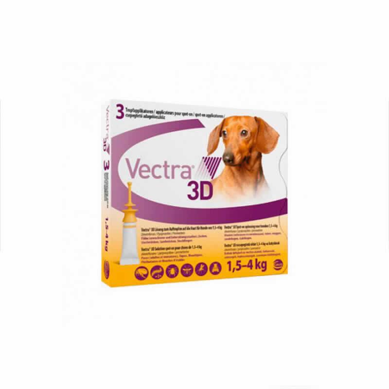 Vectra 3d Perro 1,5-4 Kg 3 Pip