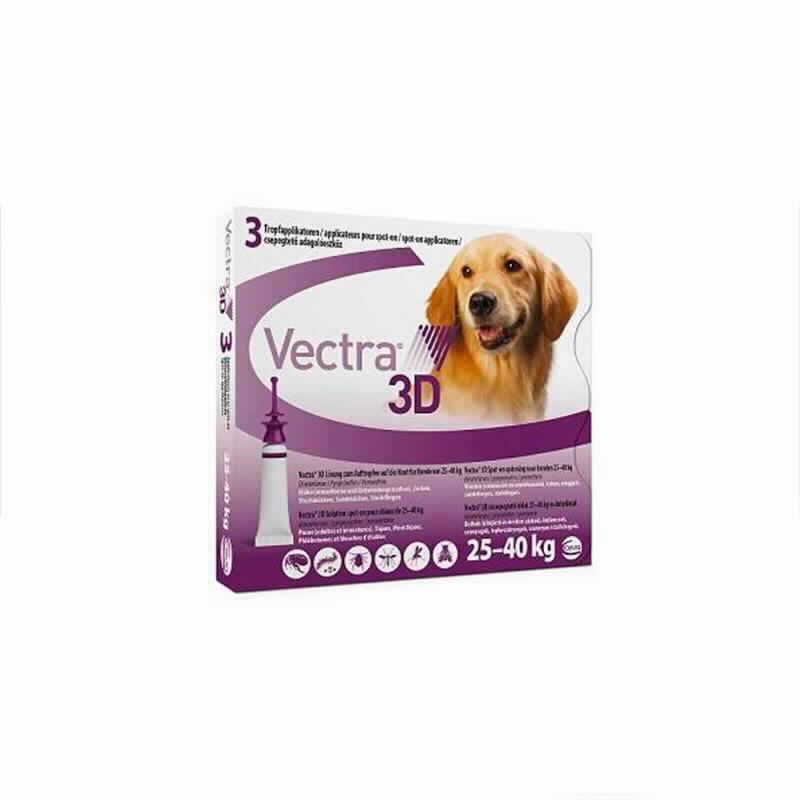 Vectra 3d Perro 25-40 Kg 3 Pip