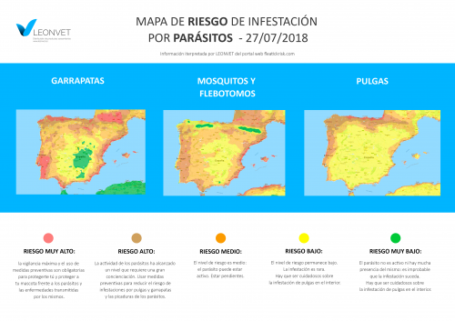 ¿Dónde están los parásitos en España?